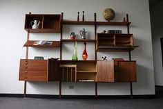 Majestic Hansen Danish Modern Teak Modular Wall Unit (Denmark, early 1960's) | Flickr - Photo Sharing!