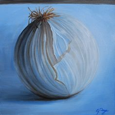 Oil Painting by Emily Page #food #stilllife #onion