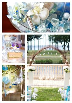 Blue Beach Wedding  VENUE/VENDOR INFORMATION:    Ceremony & Reception Venue: One Water Place at Kelly Plantation in Destin, FL | Photography: Avant Images | Catering: Classic City Catering | Lighting & Rentals: Kent's Special Events | Coordination & Floral Design: Megan K. Events | Cake: Betty Weber