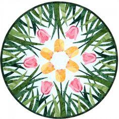 "Dutch Treat 24"" applique pattern by Laurie Tigner Designs"