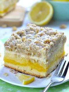 Lemon Coffee Cake | A Breakfast Coffee Cake Recipe with Lemon Curd