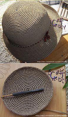 Crochet and knitting - knitting - # hats knit gorros ganchillo Crochet Beret Pattern, Crochet Beanie Hat, Crochet Stitches, Knitted Hats, Sombrero A Crochet, Crochet Summer Hats, Crochet Patron, Raffia Hat, Crochet Hat Patterns