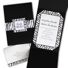 Animal Print Wedding Invitations. For Jackie's Wedding!