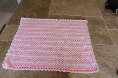 Hand made Granny Stripe baby blanket