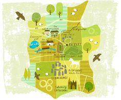 Illustrated Map of Wiltshire Stonehenge, Travel Illustration, Flat Illustration, Country Maps, Trail Maps, Happy Vibes, Map Design, City Maps, Travel Themes