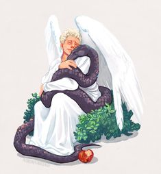 Good Omens Book, All Meme, Terry Pratchett, Pokemon, Fanart, Angels And Demons, Crowley, Poses, Stargate