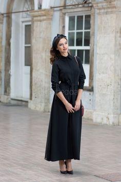 2033 Siyah Rönesans Elbise - KuaybeGider.Com