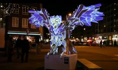 Light Projections on Sculptures-4
