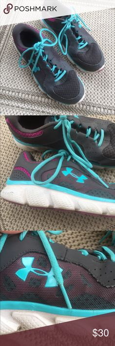 Under Armour Tennis Shoes Size 8 $30 Under Armour Blue/Grey/Magenta Tennis Shoes Great Condition $30 Under Armour Shoes Athletic Shoes