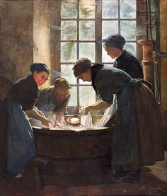 In the Wash house by Anna Elizabeth Klumpke. I want this print for my laundry room!
