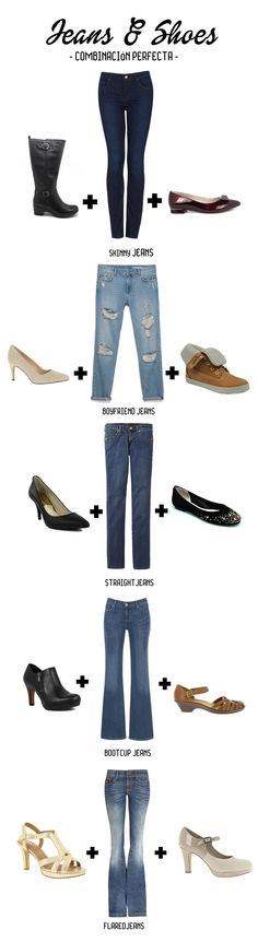 Si eres de las que no se quitan los vaqueros, no te pierdas esta pequeña guia de estilos. En gbbravo.com tenemos el zapato ideal para que los combines con tus jeans preferidos. I Emoticono heart jeans  #tendencias #outfits #jeans #weloveshoes #gbbravo