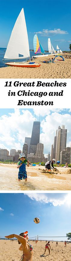 Your beach bliss awaits at one of the great public beaches between Chicago and Evanston, Illinois. Find the one that best suits you: http://www.midwestliving.com/travel/illinois/chicago/11-great-beaches-chicago-and-evanston