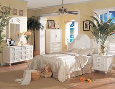 Aruba white wicker bedroom group from Seawinds Trading