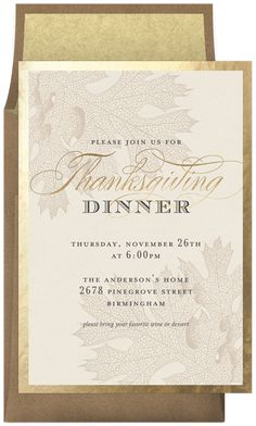 Thanksgiving Gold Leaf by Jessica Williams | Greenvelope.com