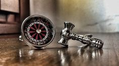 The True Value of a Law Degree Roulette & Gavel Cufflinks