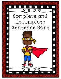 This complete and incomplete sentence sort is perfect for a literacy center! Incomplete Sentences, Grammar Sentences, Ell, Literacy Centers, Sorting, Teacher Pay Teachers, Writers, Education, Learning