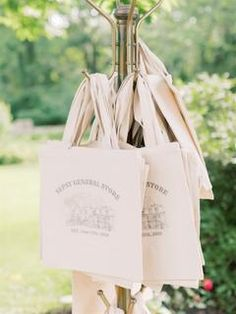 "A Botanical-Inspired Foodie Wedding with the Cutest Pop-Up ""General Store"" Favor Station!"