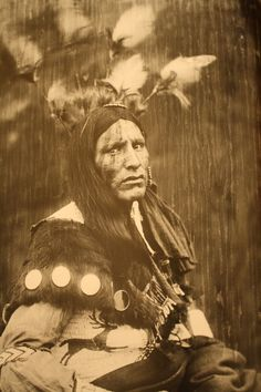 Unidentified and Unknown native american man, no date