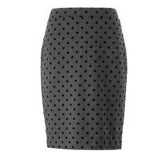 I <3 polka dots. ELLE Polka-Dot Ponte Pencil Skirt - Women's