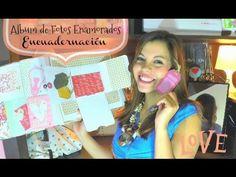 Como hacer ENCUADERNACION MUY FACIL album de enamorados - 2 -YouTube