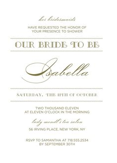 Wedding Shower Invitation - Luxe -- Kleinfeld Paper