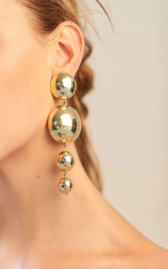 Vanda Jacintho / 4 ball earrings