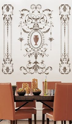 Glorious wall stencils from Cutting Edge Stencils.