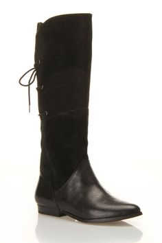 Black Lace Up Boot for fall! yes!