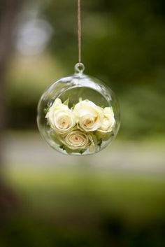 Hanging Wedding Decor 275x412 Simple and Beautiful Sunday Brunch Wedding in Maryland: Molly + Robert