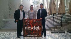 De visita en las oficinas de Nextel México con Juan Carlos Aragon y Ariadna Solis, con el presente del equipo de Latin3.