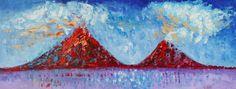 Ometepe 8 - parte  de la  colección  VOLCÁNICA - art zenelia roiz año  2014 -Óleo 59x159cm $3000 http://zeneliaroizs.wixsite.com/misitio  La isla de Ometepe, llamada también Ōmetepētl se encuentra en Nicaragua, dentro del lago Cocibolca o Gran Lago de Nicaragua. Administrativamente la isla pertenece al departamento de Rivas.  Superficie: 276 km² Población: 29.684 (11 jun. 2005)