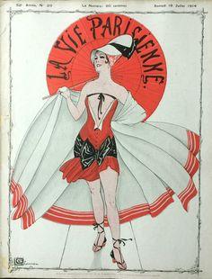 Georges Léonnec (1881 – 1940). La Vie Parisienne, 18 Juillet 1914.  [Pinned 12-vi-2016]
