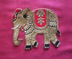 Mar 2020 - Most current Absolutely Free Embroidery Patches indian Suggestions Sourcing lapel pins or even embroidery patches may be somewhat tricky if you can't see the design in the ma Hand Embroidery Design Patterns, Hand Embroidery Videos, Hand Work Embroidery, Applique Designs, Zardosi Embroidery, Embroidery Motifs, Beaded Embroidery, Embroidery Patches, Indian Embroidery