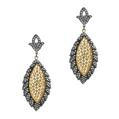 Devi Earrings $168 22K gold and white diamond crystals. Pricey, but so beautiful for that special occasion. Dinner party perhaps?