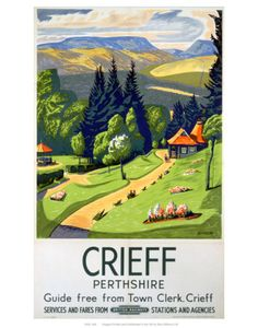 Crieff Perthshire Art Print. How cute would this be as a souvenir to take home from your time with us?