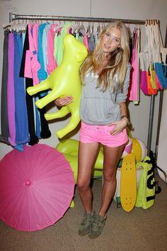 Elsa Hosk at Victoria's Secret Pink