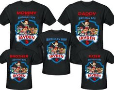 Paw Patrol SayingsPaw PartyPaw Birthday ShirtsPersonalized
