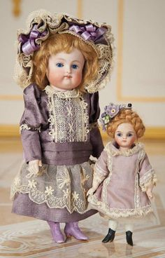 German All-Bisque Miniature Doll by Kestner with Lavender Boots, and Little Friend 1200/1600 Auctions Online | Proxibid