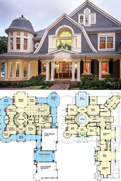 A luxury Newport home with an efficient floor plan bringing functionality and versatility together which includes all the essential amenities and entertainment spaces for the family to enjoy. House Plans Mansion, Sims House Plans, House Layout Plans, Luxury House Plans, Ranch House Plans, Craftsman House Plans, Country House Plans, New House Plans, Dream House Plans