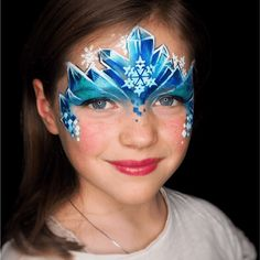 Behold the Ice Princess Contest Winner - Kristin Olsson Elsa Face Painting, Princess Face Painting, Painting For Kids, Frozen Face Paint, Christmas Face Painting, Face Painting Designs, Ice Princess, Maquillage Halloween, Fantasy Makeup