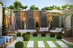 Modern Backyard Design, Modern Landscape Design, Backyard Pool Designs, Small Backyard Landscaping, Modern Landscaping, Modern Patio, Rooftop Terrace Design, Terrace Garden Design, Back Garden Design