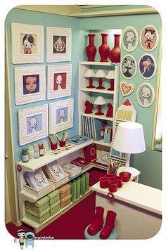 Playscale miniature shop diorama