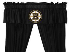 Boston Bruins Window Treatments Valance