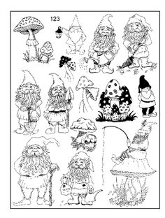 gnomes - they would do a great garden guardians for my fairies