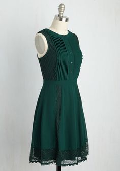 Dresses - Dresses For Women : Wants Upon a Time Dress. Satisfy your desire for adding fairytale style into your daily wardrobe with this dark green dress! Sleeves Designs For Dresses, Dress Neck Designs, Stylish Dress Designs, Pakistani Dresses Casual, Indian Fashion Dresses, Pakistani Dress Design, Trendy Dresses, Casual Dresses, Dresses Dresses