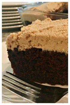 Chocolate Peanut Butter Crazy Cake - Sweet Little Bluebird
