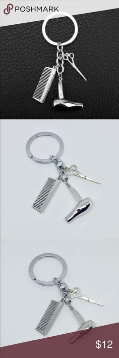 Cosmetologist/Hair-Dresser Dangle,Pendant Keychain NEW!! How CUUUTE?!?!?! High-Quality!! Cosmetologist/ Hair Stylist Dangle, Pendant Keychain with Blow-dryer, scissors and comb charms!! This keychain would be the absolute PERFECT gift for the men or women that help us keep our hair looking FAB!! 💁❤️ Accessories Key & Card Holders