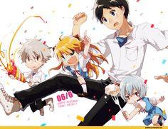 Shinji x Chibi Kaworu, Asuka, Rei