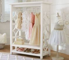 Love this open wardrobe for kids play room and bedroom