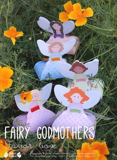 Fairy favor boxes Printable fairy dolls party